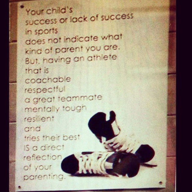 ALL parents should be given this as soon as their kid plays any sport, regardless of level.