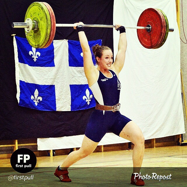 I chose this pick of @Mariloudozoisprevost from @FirstPull because it represents our message in today's post. Not all competitions are mean't for the athlete to set a Personal Record (PR) or to be competitive off the bat- it takes time! While this may seem like common sense to some, I don't believe it's an accepted message across the board.  It's all too common to hear athletes say they are too weak to compete, there is too much competition, they won't set a record etc… So I thought it'll be beneficial to explain the benefits of competing for the development of an athlete aside from setting records or being competitive.  Going back to the picture- Marilou was a 2008 Olympian and had to overcome some tough injuries that had limited her lifting over the past few years. Here she is making a come back, not by pushing herself for PR's but by just competing and getting back into the rhythm. *FYI- according to Jean-Patrick she power cleaned this weight.  Now ask yourself how many competitions do you believe Marilou has under her belt vs yourself, then you should ask why are you not willing to put your ego aside and learn the many benefits of competing aside from PR's in your development as a weightlifter?  Copy and Paste link:  http://www.fusionweightlifting.com/competitions-personal-records/