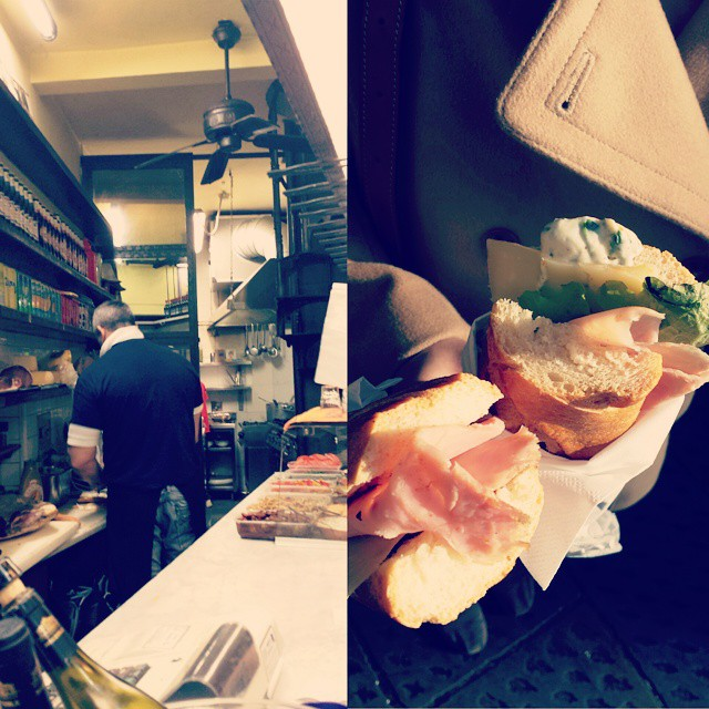 Some damn good sandwiches from Antico Noe.  Thanks for the tip @silvdola1