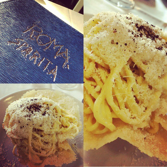 Ah missing some 'Cacio e Pepe' from Roma Sparita-an easy 10min walk from the Coleseum of you're every in Rome.  Basically cheese on cheese with pepper and pasta on fried cheese!  A great way to add a crap load of calories. ??
