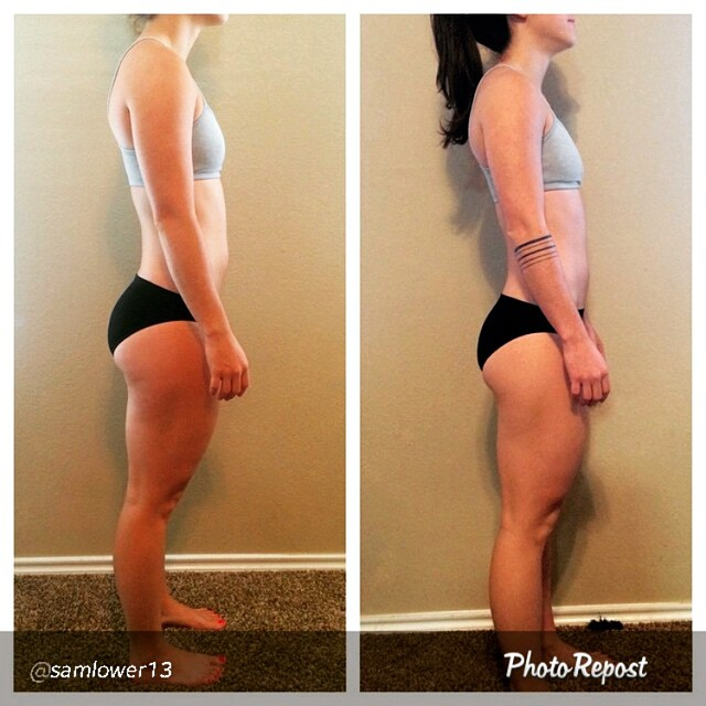 "I love this progress pic from @samlower13 so much.  It's not the typical pics you see on Instagram but I love it! Why? Because she's amazingly honest. Instead of posting, as she put, ""false dehydrated abs"" she wanted to show everyone a realistic before and after pic = badass. ???? Sam worked her butt off, maybe literally read below post ????, and dropped 5k/11lbs over about 6 months all while still competing at a National caliber level. Amazing job all around! (@rpstrength)????? Read her comments below:"